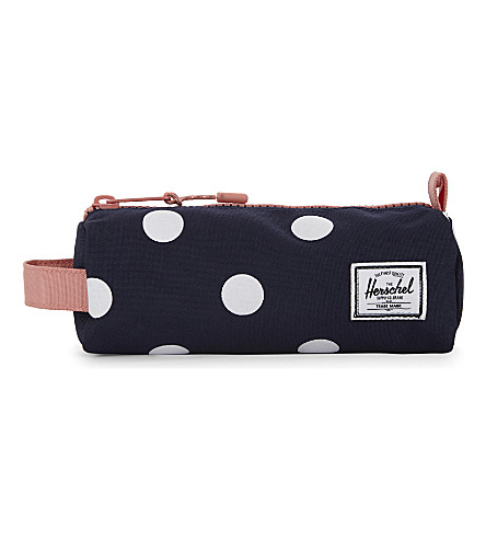 HERSCHEL SUPPLY CO Polka dot pencil case (Peacoat+polk+dot