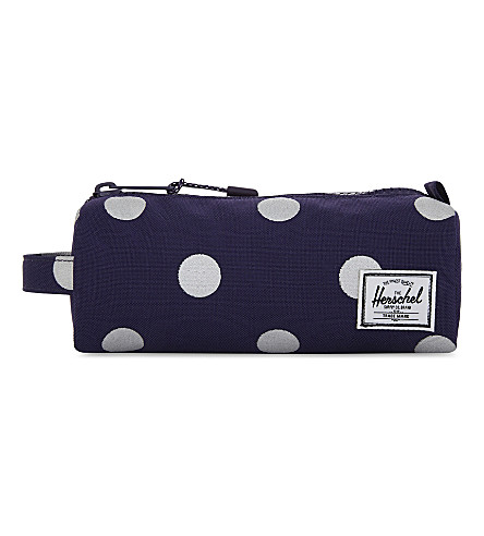 HERSCHEL SUPPLY CO Settlement polka-dots canvas pencil case