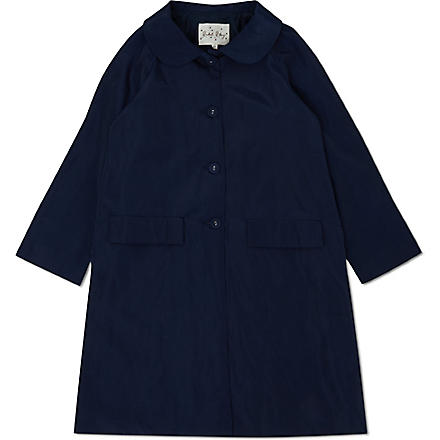 RACHEL RILEY Buttoned swing coat 4-10 years (Navy