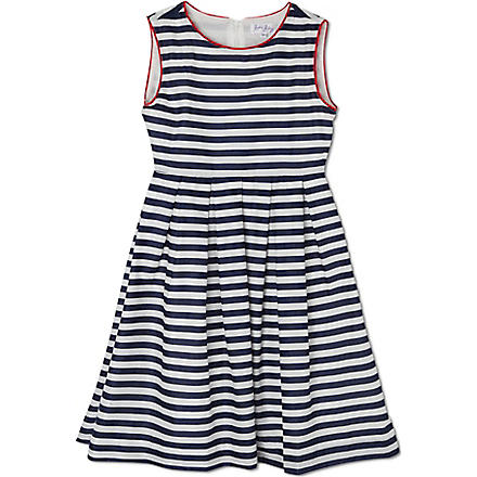 RACHEL RILEY Nautical Stripe dress 3-10 years (Navy/ivory/red