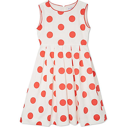 RACHEL RILEY Polka-dot dress 3-10 years (Ivory/light red