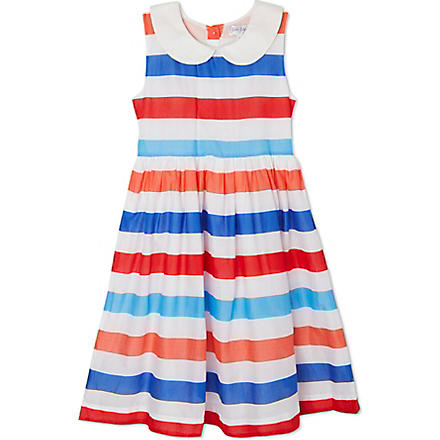 RACHEL RILEY Sleeveless striped dress 3-10 years (Red/ivory/blue