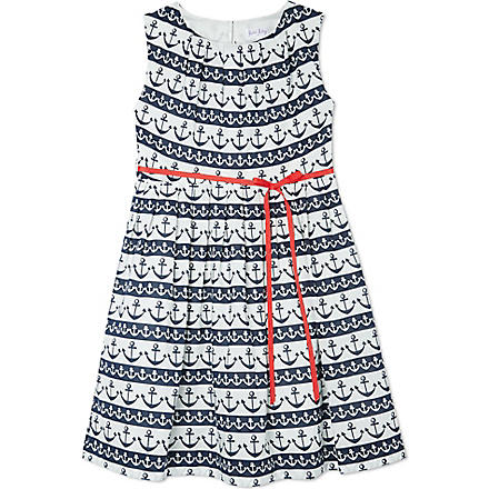 RACHEL RILEY Anchor print dress 3-10 years (Navy/ivory