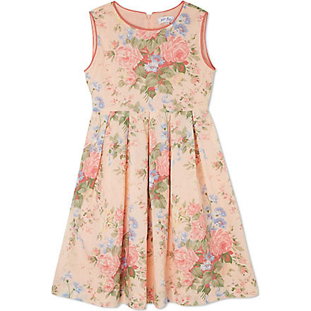RACHEL RILEY Sleeveless rose printed dress 3-10 years (Pink/apricot