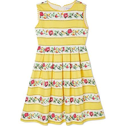 RACHEL RILEY Striped rosebud dress 3-10 years (Yellow