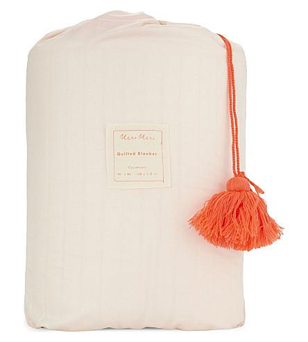 MERI MERI Organic cotton quilt (Peach