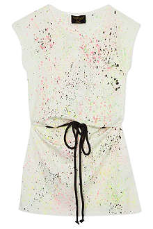 FINGER IN THE NOSE Cassy printed belt dress 4-14 years