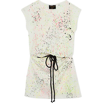 FINGER IN THE NOSE Cassy printed belt dress 4-14 years (Cream