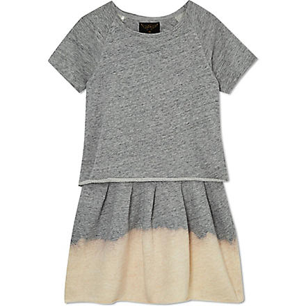 FINGER IN THE NOSE Wilma dip dye sweater dress 4-14 years (Grey