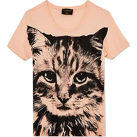 FINGER IN THE NOSE Printed t-shirt 4-14 years (Coral