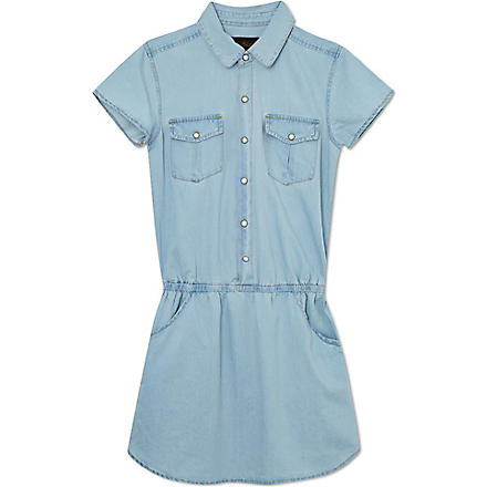 FINGER IN THE NOSE Pippa denim shirt dress (Blue