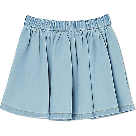 FINGER IN THE NOSE Annix chambray skirt 4-14 years (Blue