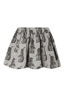 FINGER IN THE NOSE Bunny print sweat skirt 4-16 years