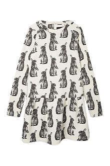 FINGER IN THE NOSE Lucia Neo rabbit-print sweater dress 4-16 years