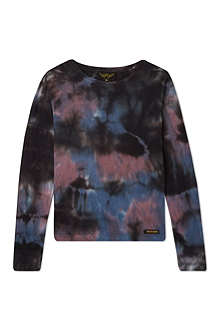 FINGER IN THE NOSE Tie-dye long-sleeved top 4-16 years