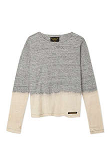 FINGER IN THE NOSE Saria dip-dye long-sleeved top 4-16 years