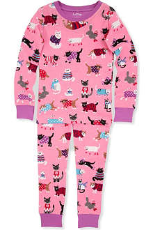 HATLEY Cat print pyjamas 2-8 years