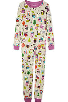 HATLEY Owl-print pyjama set 2-12 years