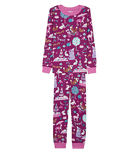 HATLEY Enchanted tea party organic cotton pyjama set (Pink