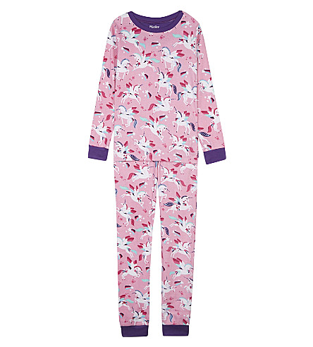 HATLEY Rainbow unicorns cotton pyjama set (Pink