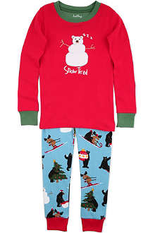 HATLEY Snow tired pyjama set 2-8 years