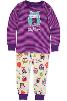HATLEY Owl print pyjama set 2-8 years