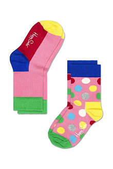 HAPPY SOCKS Pack of two cotton socks