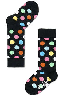 HAPPY SOCKS Knee high polka dot socks 4 months-8 years