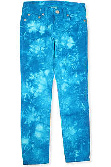 TRUE RELIGION Casey tie-dye slim-fit jeans 4-14 years