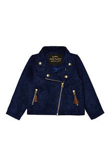 MINI RODINI Suedette biker jacket 2-11 years