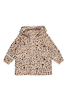 MINI RODINI Cheetah spotted rain jacket 2-11 years