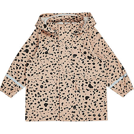 MINI RODINI Cheetah spotted rain jacket 2-11 years (Pink
