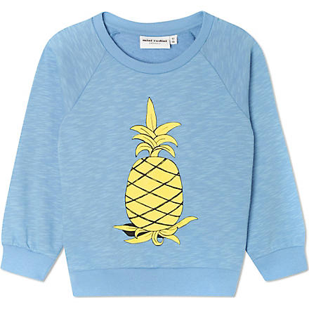 MINI RODINI Mr Pineapple sweatshirt 2-11 years (Blue