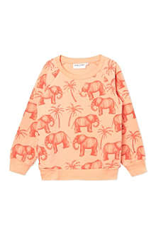MINI RODINI Elephant print sweatshirt 2-11 years