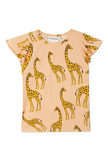 MINI RODINI Giraffe print wing t-shirt 2-11 years