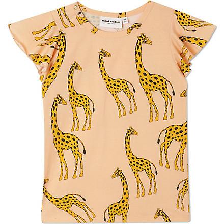 MINI RODINI Giraffe print wing t-shirt 2-11 years (Pink