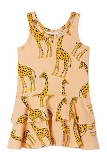 MINI RODINI Mr Giraffe print dress 2-11 years