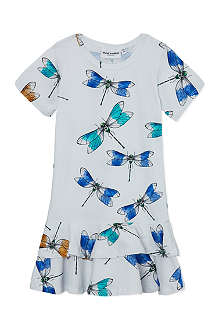MINI RODINI Mr Dragonfly print dress 2-11 years