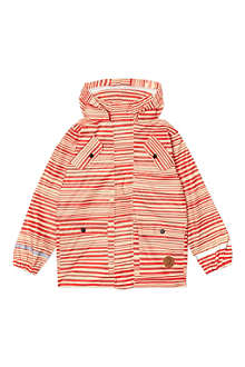 MINI RODINI Striped rain jacket 2-11 years