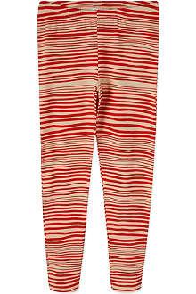 MINI RODINI Striped organic cotton leggings 2-11 years