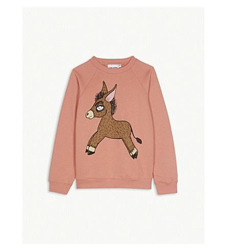 MINI RODINI Donkey print cotton sweatshirt 4-11 years (Pink