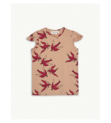 MINI RODINI Swallow wing cotton T-shirt 4-11 years (Pink