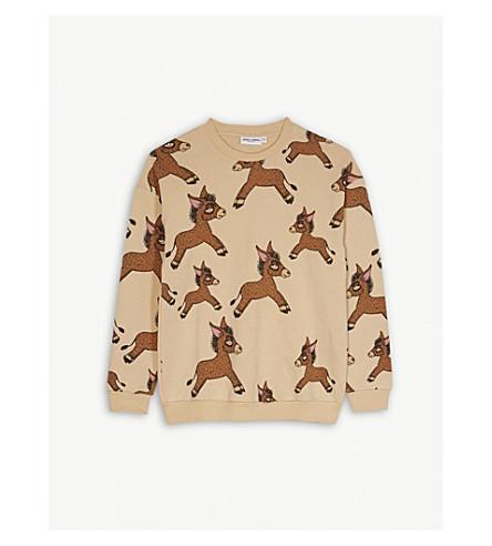 MINI RODINI Donkey print organic cotton jumper 4-11 years (Cream
