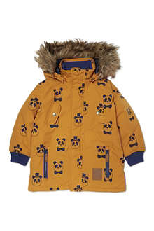 MINI RODINI Mr Panda parka coat 2-10 years