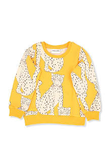 MINI RODINI Snow leopard sweatshirt 2-11 years