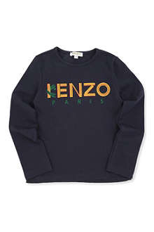 KENZO Logo long-sleeved t-shirt 6-12 years