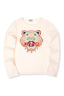 KENZO Tiger long-sleeve t-shirt 4-12 years
