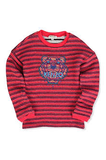 KENZO Tiger striped sweatshirt 4-14 years