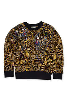 KENZO Jungle print long sleeved knit 6-16 years