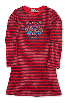 KENZO Stripe tiger sweater dress 6-16 years